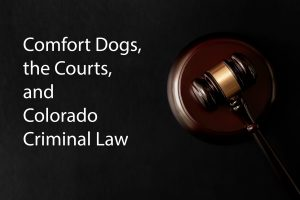 Comfort Dogs, the Courts, and Colorado Criminal Law